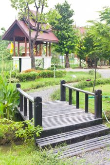 Free Bridge In The Park Of Thai Stock Photo - 24380460