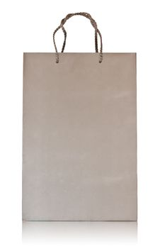 Free Shopping Bag Made From Brown Recycled Paper Royalty Free Stock Photography - 24380947