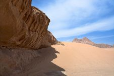 Free Sandstone Rocks In Wadi Rum Desert Stock Photography - 24381302