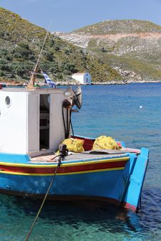 Free Greek Fishing Boat Stock Photo - 24382490