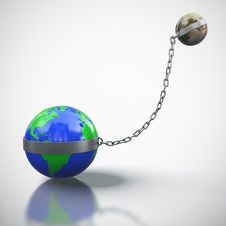 Free Earth Linked With Moon Royalty Free Stock Images - 24383489