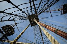 Free Three Masts On Tall Ship Royalty Free Stock Images - 24384839