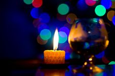 Free Bokeh With Candle Stock Images - 24386734
