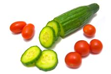 Cucumber And Cherry Tomatoes Royalty Free Stock Photo