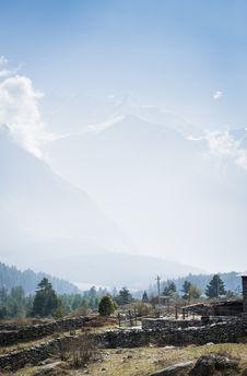 Free Annapurna Himalaya Region Of North Nepal Stock Images - 24388324