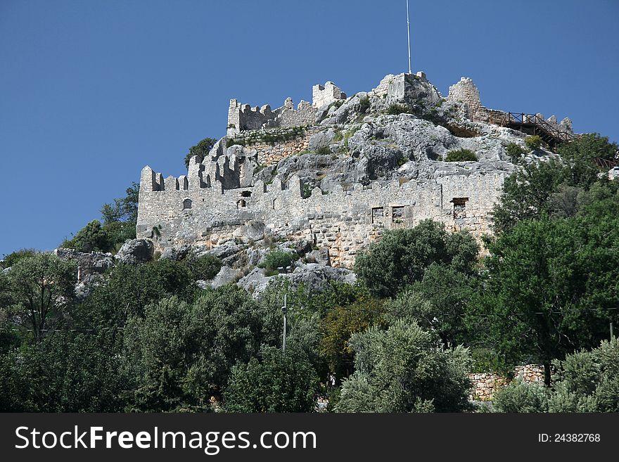 Simena Castle walls