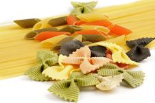 Free Italian Pasta Spaghetti, Tricolore And Farfalle Stock Photography - 24390382