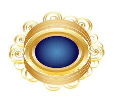 Free Golden Brooch Royalty Free Stock Photos - 24390458