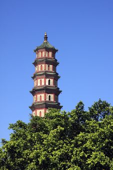 Old Chinese Pagoda Stock Photography