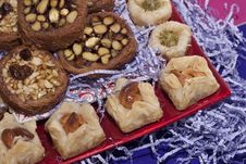 Free Oriental Sweets On A Colorful Dish Stock Photo - 24391750