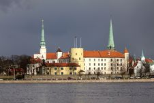 Riga Castle Royalty Free Stock Photos