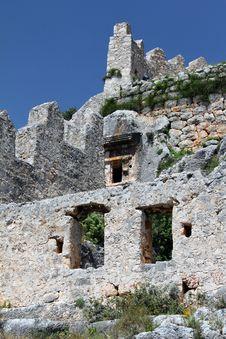 Simena Castle Building Stock Photo