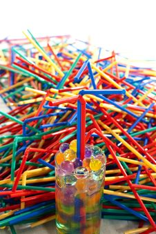Free Plastic Straws Royalty Free Stock Image - 24397026