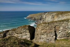 Free Treknow Coast Near Tintagel In Cornwall Stock Photo - 24397490