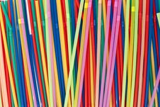 Free Colored Straws Stock Image - 24397511