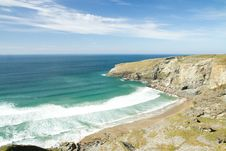 Free Beach At Treknow Near Tintagel In Cornwall Stock Photos - 24397743