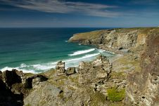 Free South West Coast Path View Treknow Near Tintagel North Cornwall Uk Royalty Free Stock Image - 24397826