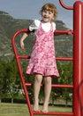 Free Girl Climbing Royalty Free Stock Photography - 2442347
