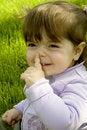 Free Happy Girl In Grass Stock Photo - 2443180