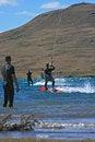 Free Kiter Wathing 3 Kiters Stock Photos - 2443323