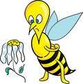 Free Bee And Dead Daisy Stock Photo - 2444710