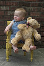 Free Toddler And Teddy Stock Image - 2444751