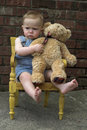 Free Toddler And Teddy Royalty Free Stock Photos - 2449148