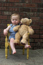 Free Toddler And Teddy Stock Image - 2449171