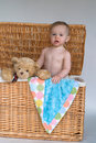 Free Baby And Teddy Stock Photo - 2449280