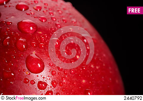 Free Red Apple Drops Stock Photography - 2440792