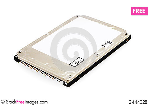 Free Hard Disk Drive On White Royalty Free Stock Photos - 2444028