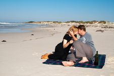 Free Young Married Couple Kissing Stock Photos - 2440253