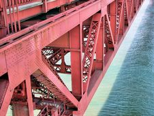 Free Golden Gate Detail Royalty Free Stock Image - 2440366