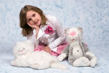 Free The Girl With Toys Stock Images - 2440484