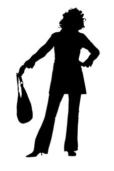 Free Silhouette Of A Young Woman Royalty Free Stock Images - 2440529