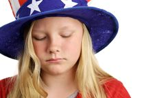 Free Stars Stripes And Sadness Royalty Free Stock Image - 2440966