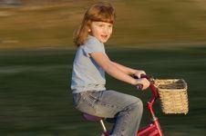 Free Girl On Bike Stock Image - 2442311