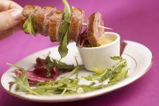 Free Sausage With Salad Royalty Free Stock Image - 2442816