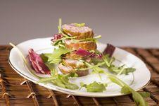 Free Sausage With Salad Stock Photo - 2442860
