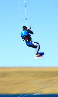 Kitesurfer Jumping Stock Photos