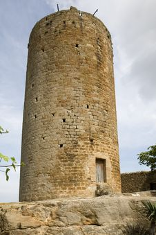 Free Tower In Pals, Catalonia Stock Images - 2443564