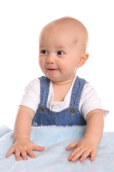 Free Little Bruised Blonde Baby Royalty Free Stock Photos - 2444018