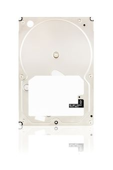 Hard Disk Drive On White Stock Photo