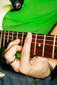 Free Fingers Of Guitar Player Royalty Free Stock Images - 2444259