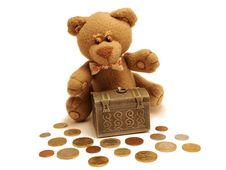 Free Teddy Bear&treasure Stock Image - 2445671
