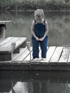 Free Little Boy On Dock Royalty Free Stock Photos - 2445828