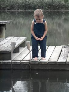 Free Little Boy On Dock Royalty Free Stock Images - 2445829