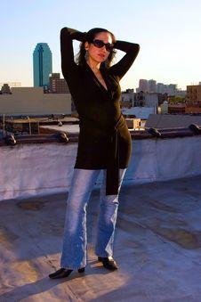 Free Woman Posing Stock Photography - 2446002