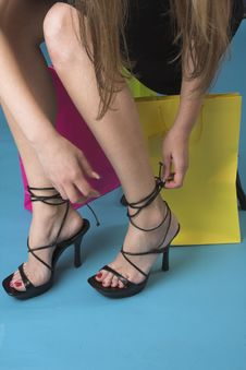 Free Portrait Of Feet In High Heel Stock Photos - 2446763