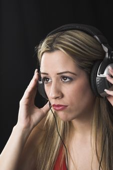 Free Woman  Listening To Music Royalty Free Stock Photography - 2446837